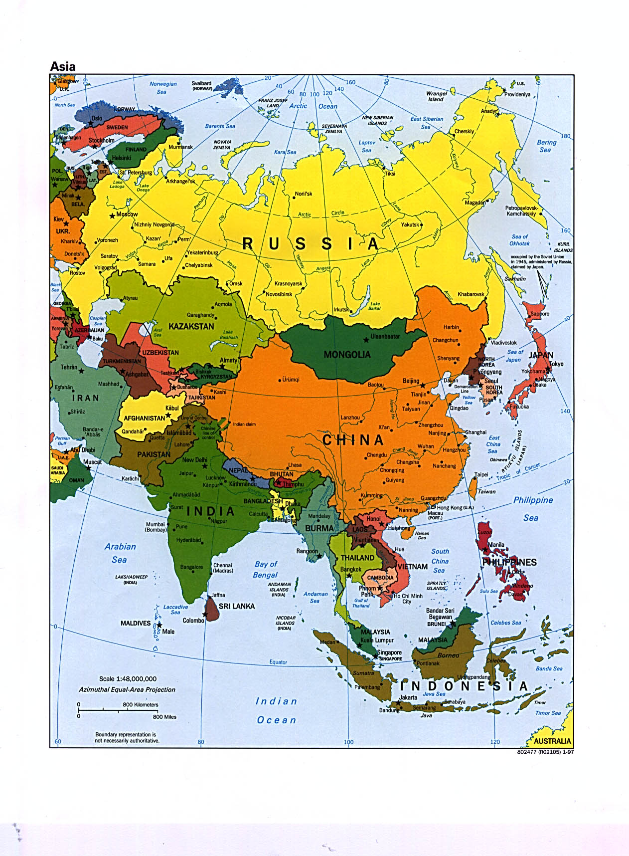 The Continent Of Asia Map.Www Mappi Net Maps Of Continents Asia