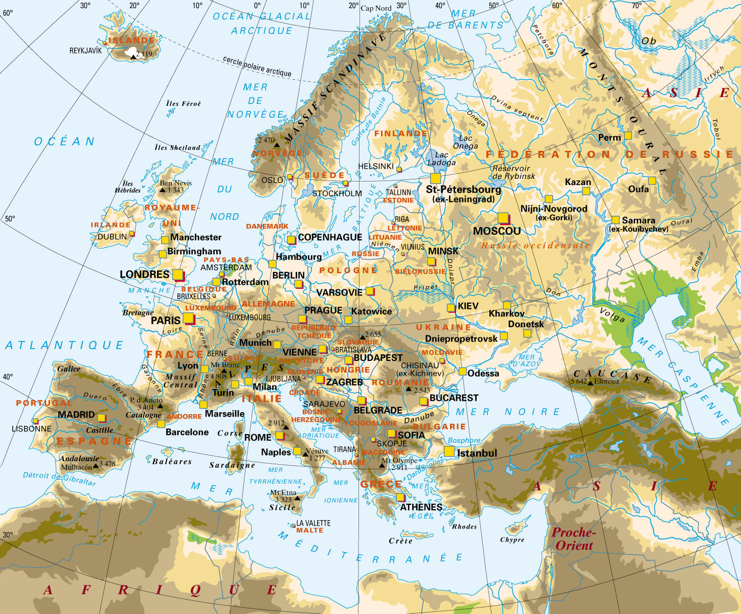 Carte Europe Avec Meridiens.Www Mappi Net Maps Of Continent Europe