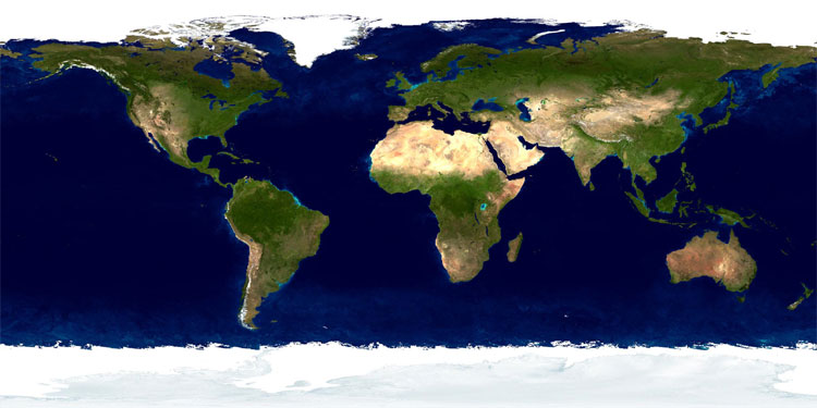 WwwMappinet World Maps Satellite Maps - World satellite map with countries
