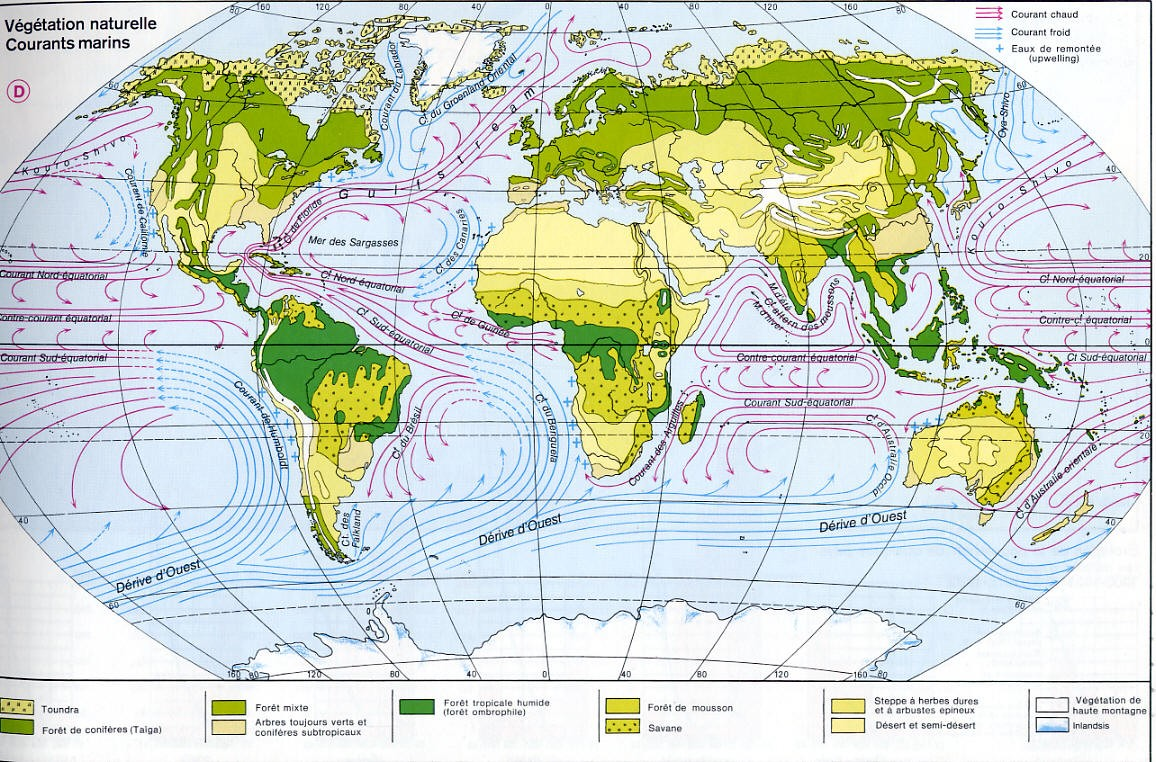 Mappi world maps meteorological maps vegetation map and marine currents of the world gumiabroncs Gallery