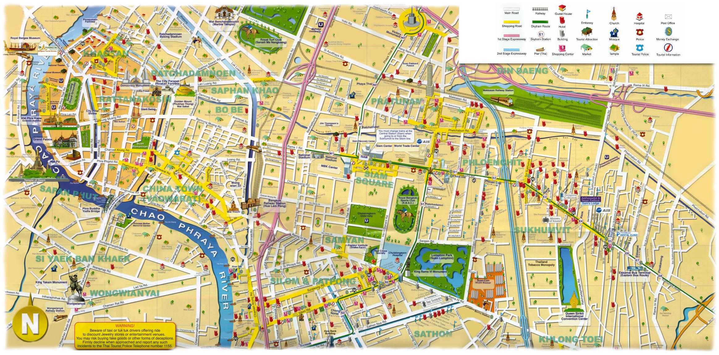 wwwMappinet Maps of cities Bangkok