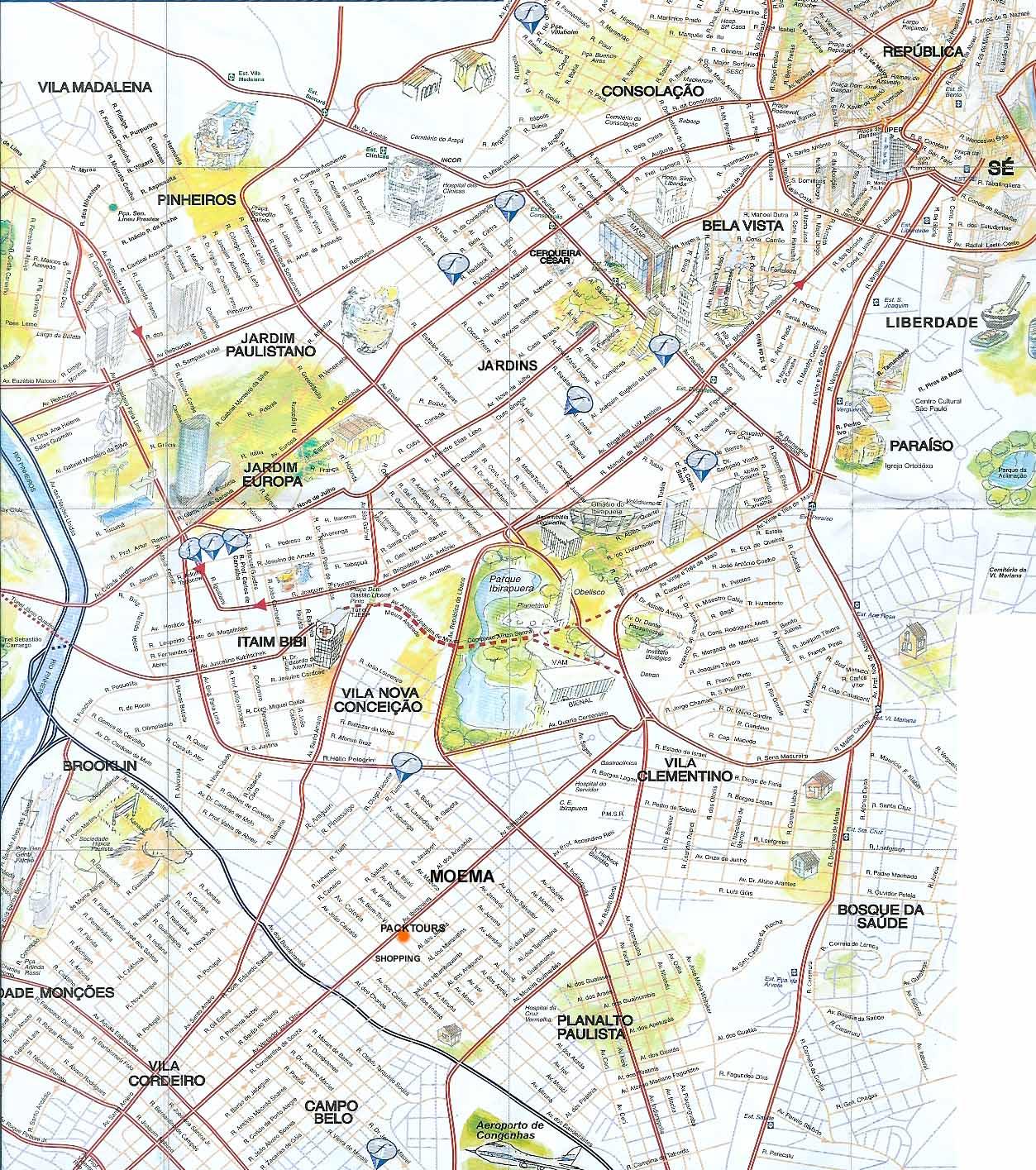 Mapa de Sгo Paulo, Brasil