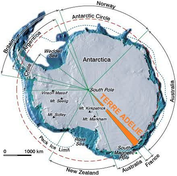 Map of Antarctica.