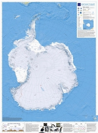 Map of Antarctica with the terrain.