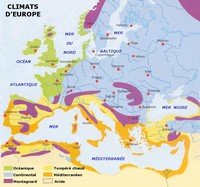 Map of European climates.