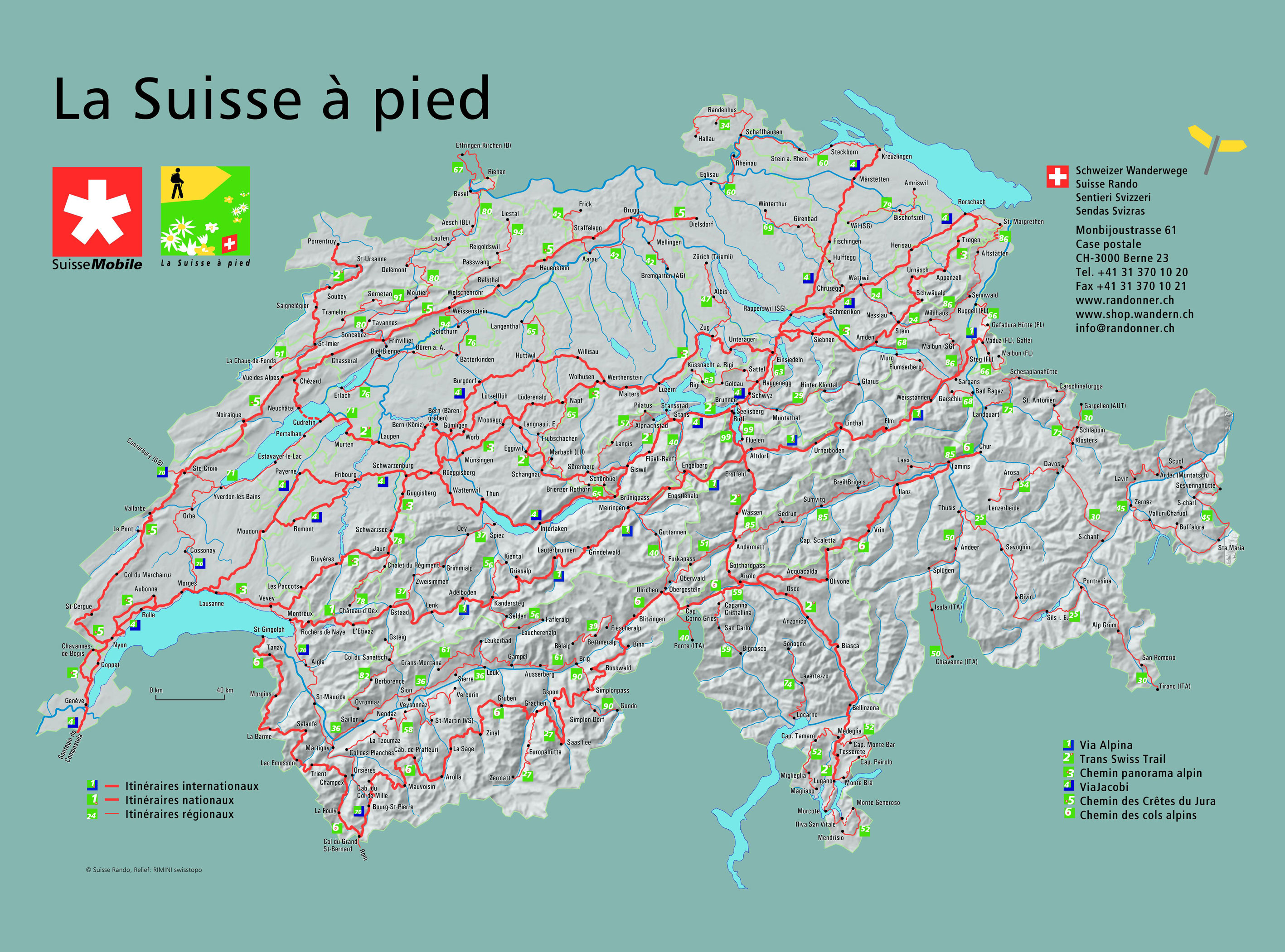 Mappi maps of countries switzerland page 1 hiking route map of switzerland on foot gumiabroncs Images