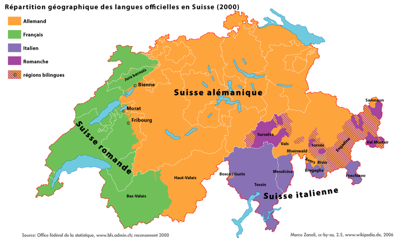 Mappi maps of countries switzerland page 1 map of the official languages of switzerland gumiabroncs Images