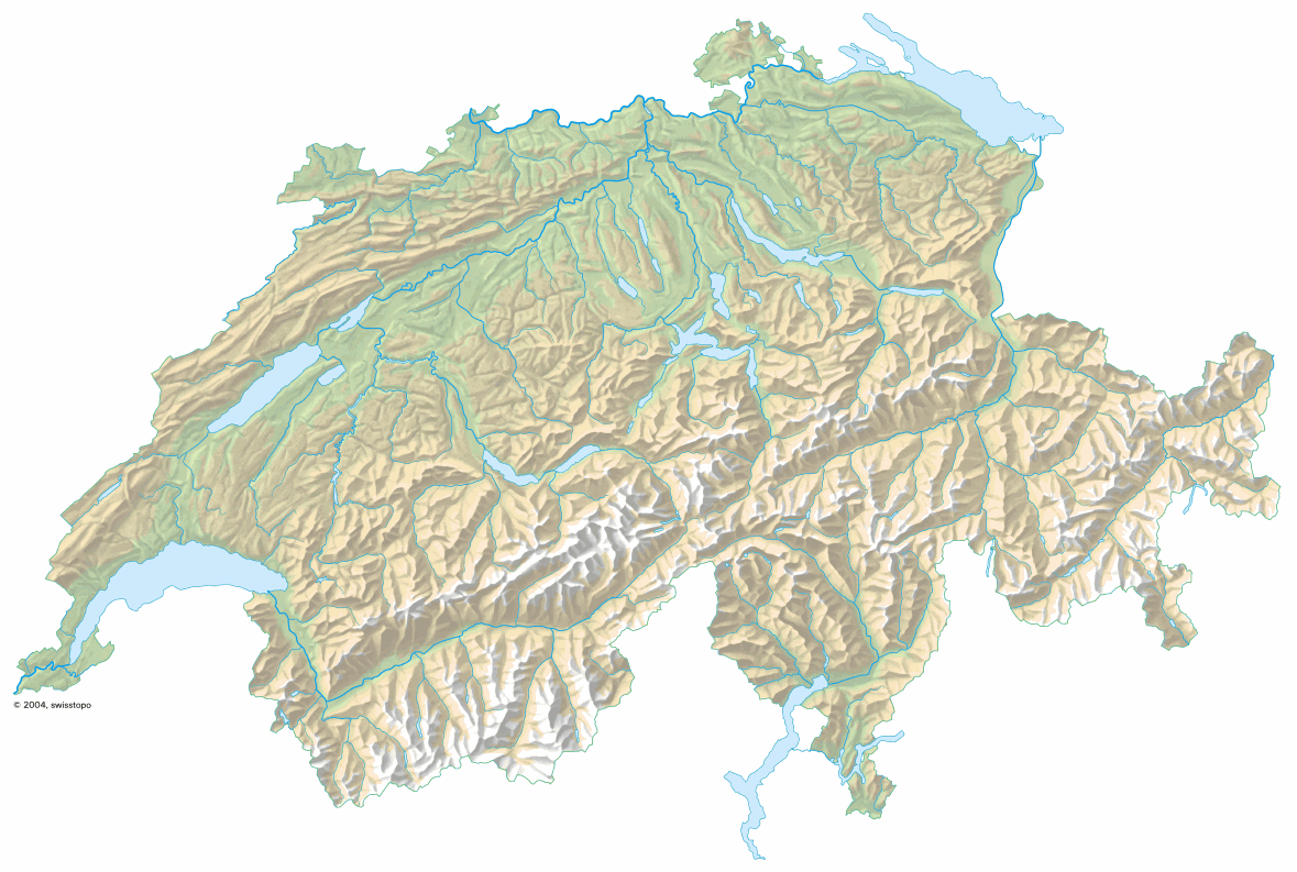 Mappi maps of countries switzerland page 2 relief map of switzerland in 3d without the altitude gumiabroncs Images