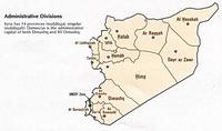 Map of 14 provinces or administrative division of Syria.
