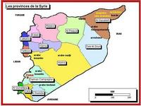 Map of the provinces of Syria.