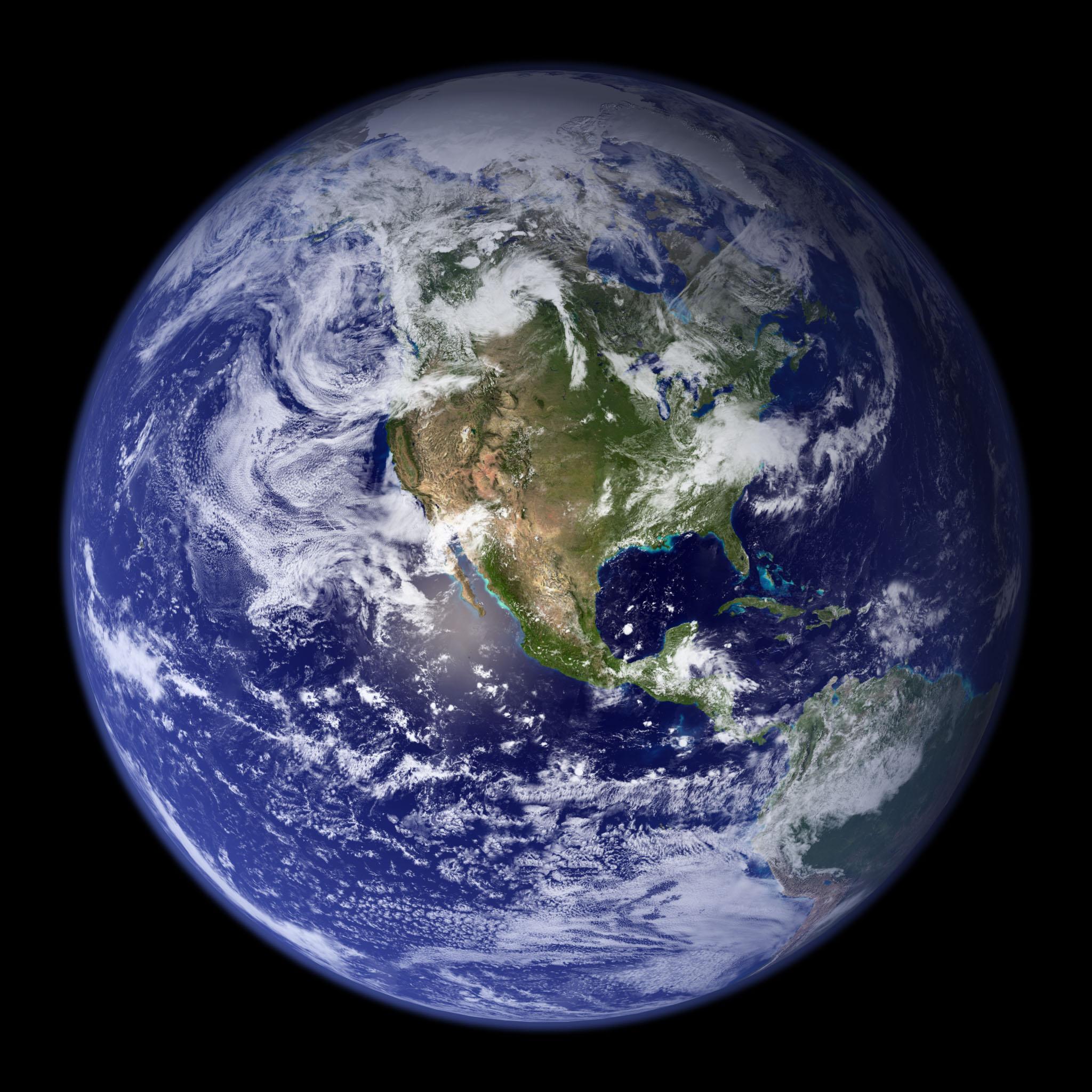 Mappi world maps satellite maps satellite photo of world western hemisphere gumiabroncs Choice Image