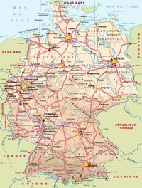 Map of roads in Germany.