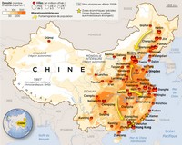 Another map of population density in China.