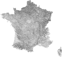 Map of French communes.