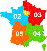 Indicative map of phones in France.