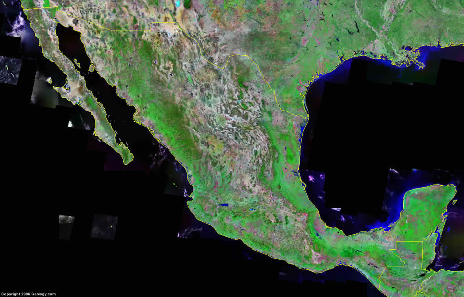 WwwMappinet Maps Of Countries Mexico - Satellite image map