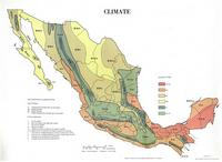 Climate map of Mexico.