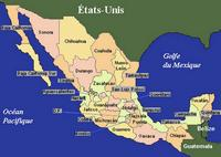 Map of Mexican states.