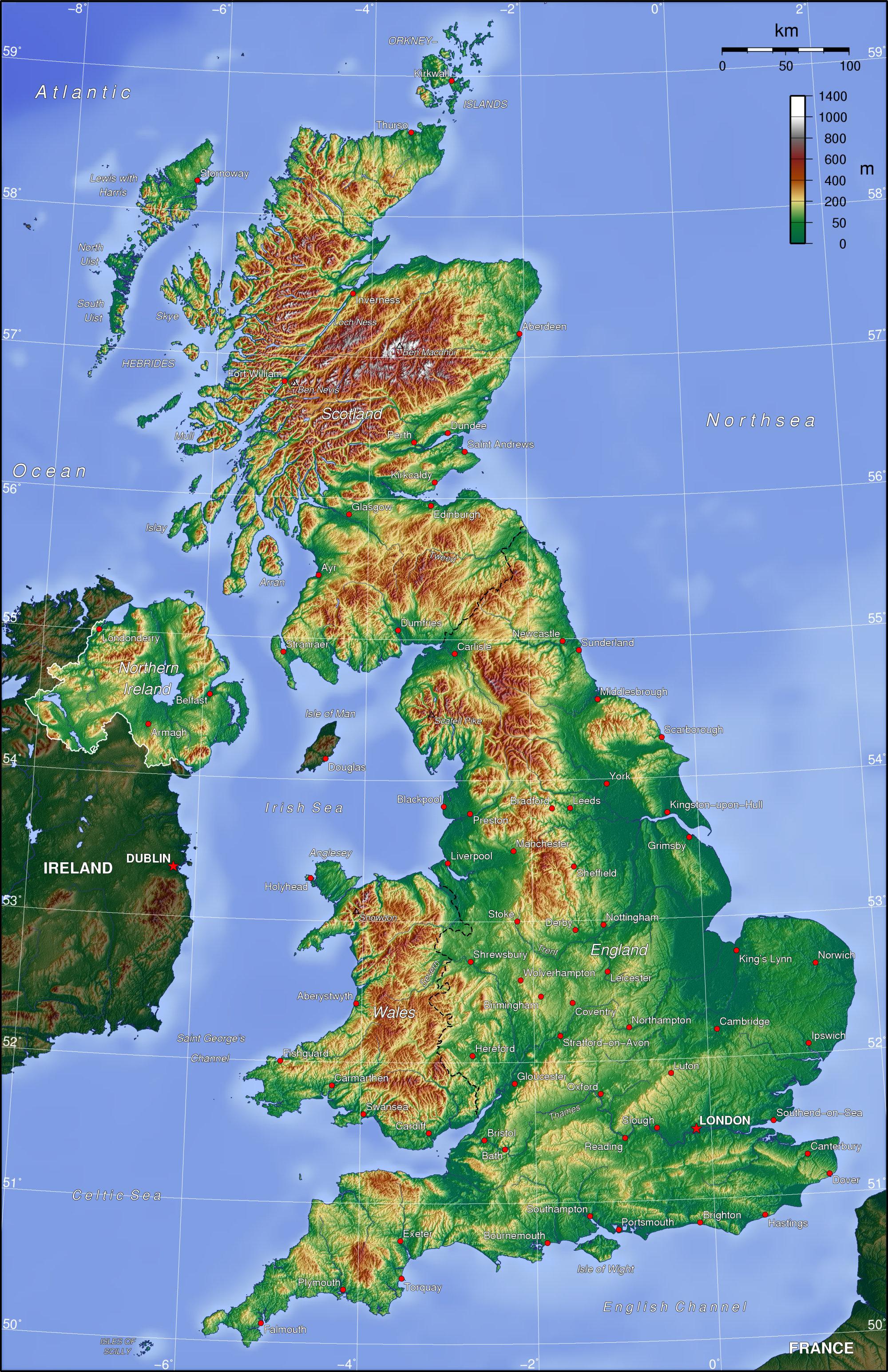 Carte Altitude Canada.Www Mappi Net Maps Of Countries The United Kingdom