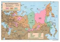 Map of Russia and administrative divisions.