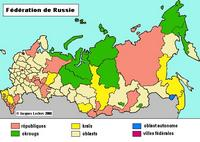Map federations of Russia.