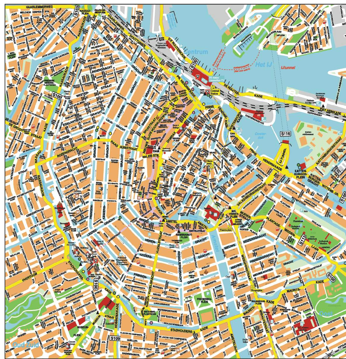 wwwMappinet Maps of cities Amsterdam