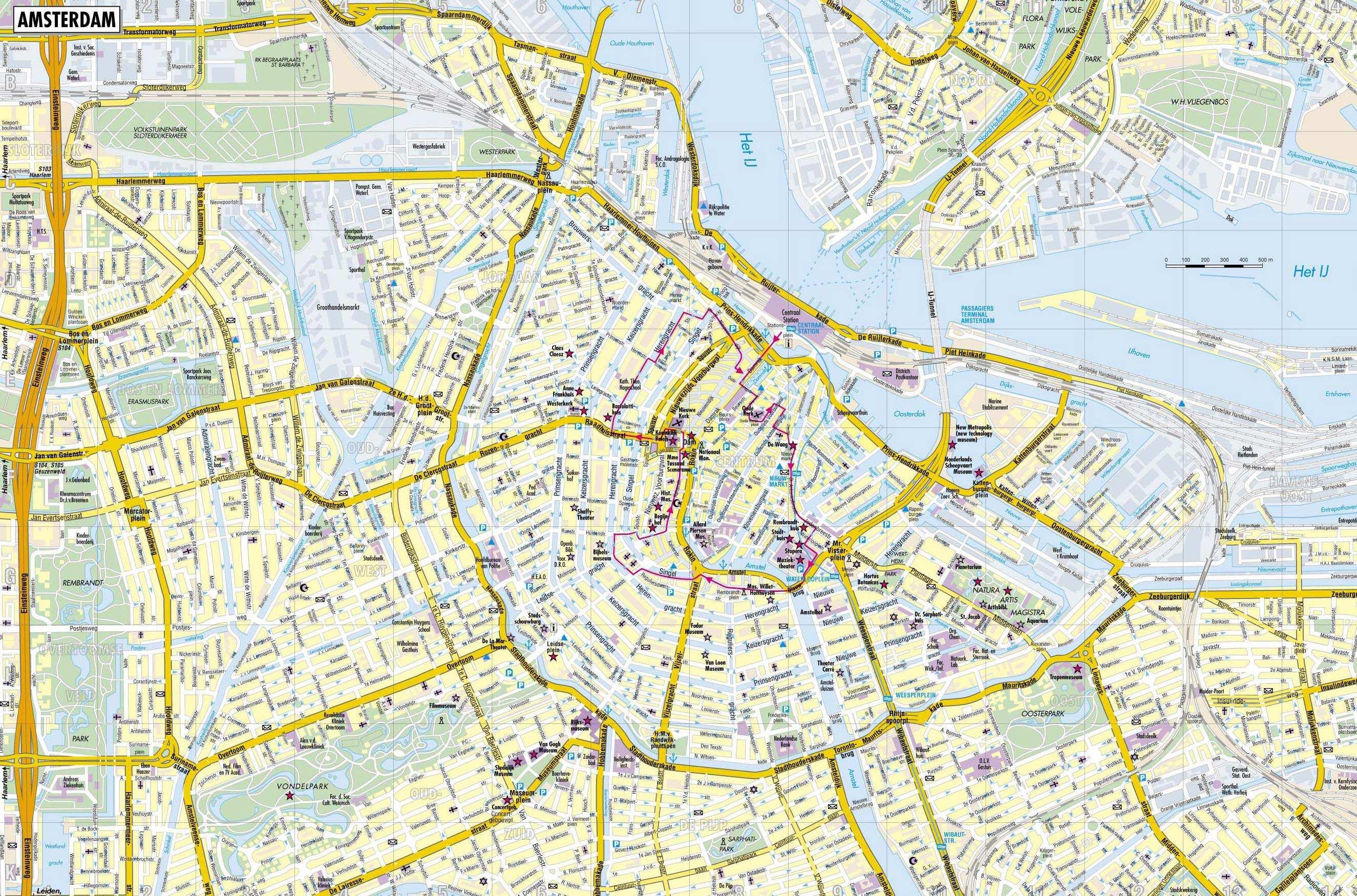Mapa De Amsterdam Centro.Www Mappi Net Maps Of Cities Amsterdam
