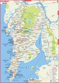 Map of Bombay (Mumbai).