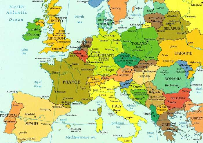 maps of continent europe. Black Bedroom Furniture Sets. Home Design Ideas