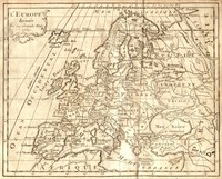 Map of Europe in the year 1763.