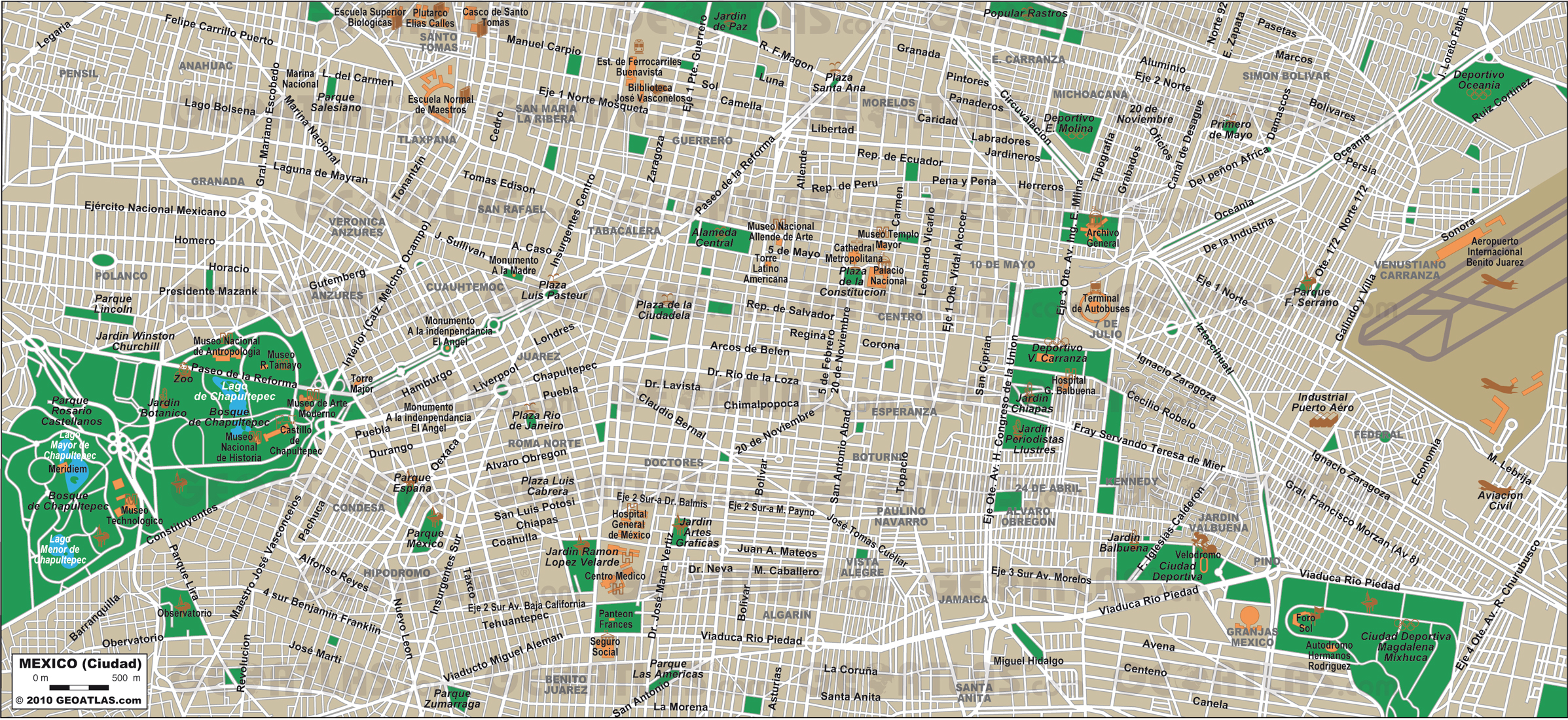 www.Mappi.net : Maps of cities : Mexico