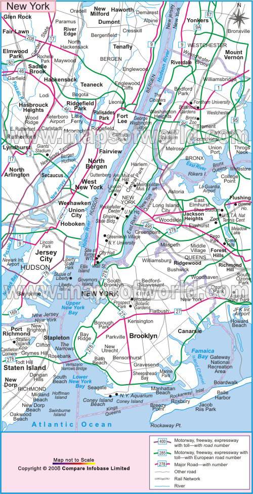 Map Of New York And Surrounding Areas.Www Mappi Net Maps Of Cities New York City