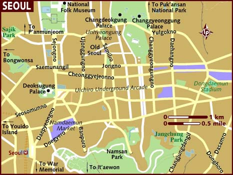 Map of central Seoul.