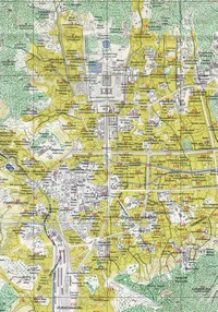 Map of Seoul, parks and public buildings.