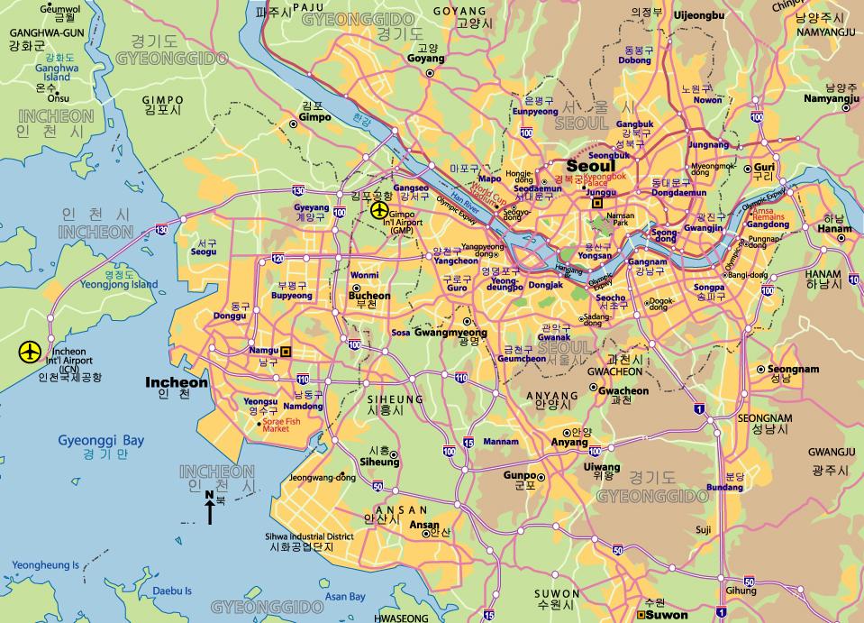 wwwMappinet Maps of cities Seoul