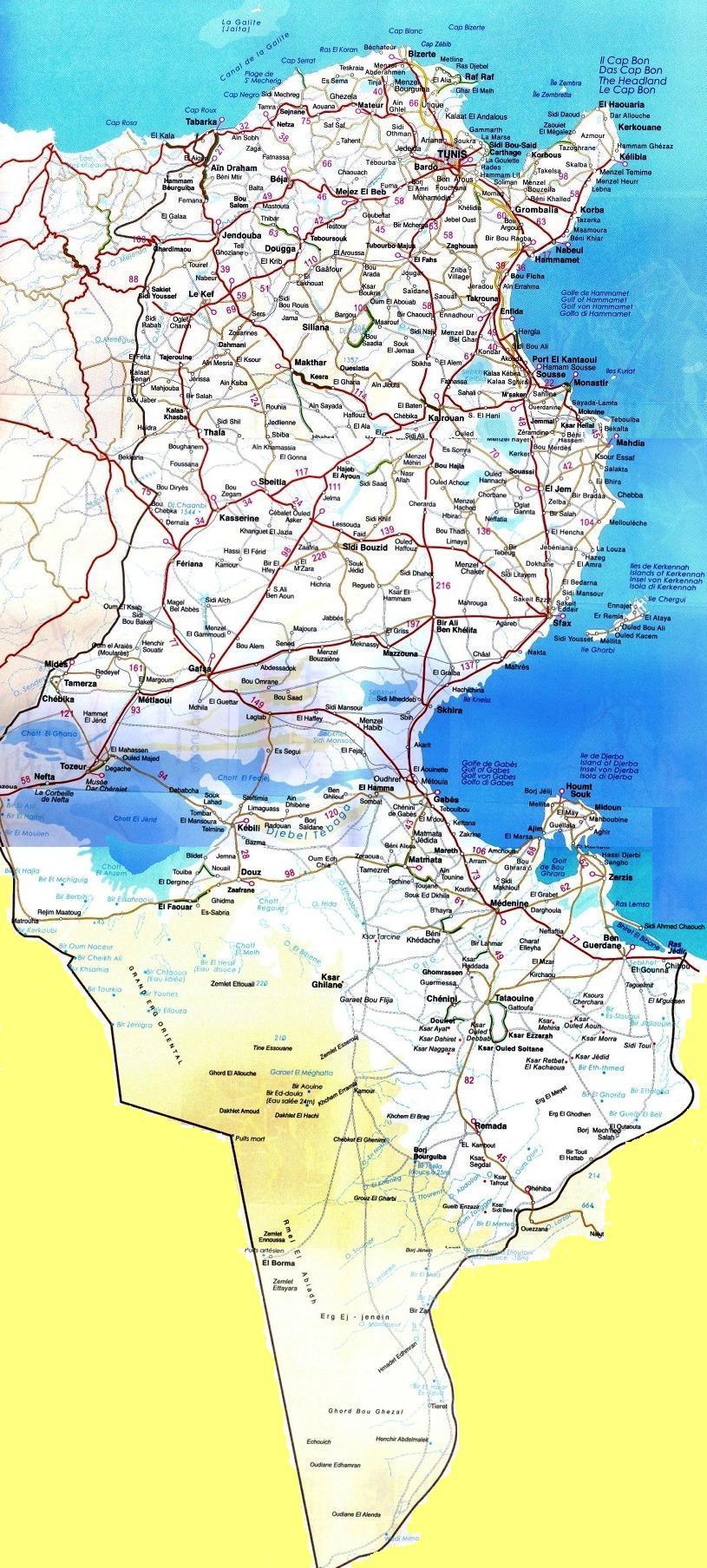 www.Mappi.net : Maps of countries : Tunisia