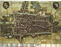 Historical Map of Utrecht in 1652.