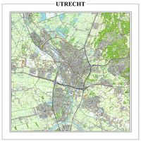 Detailed map of Utrecht and surroundings.