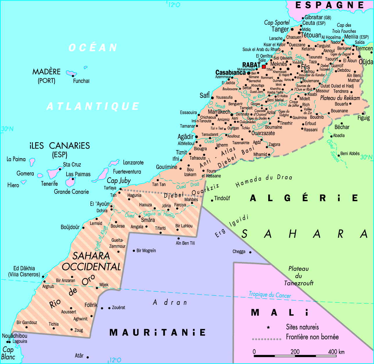 Maps of countries Morocco