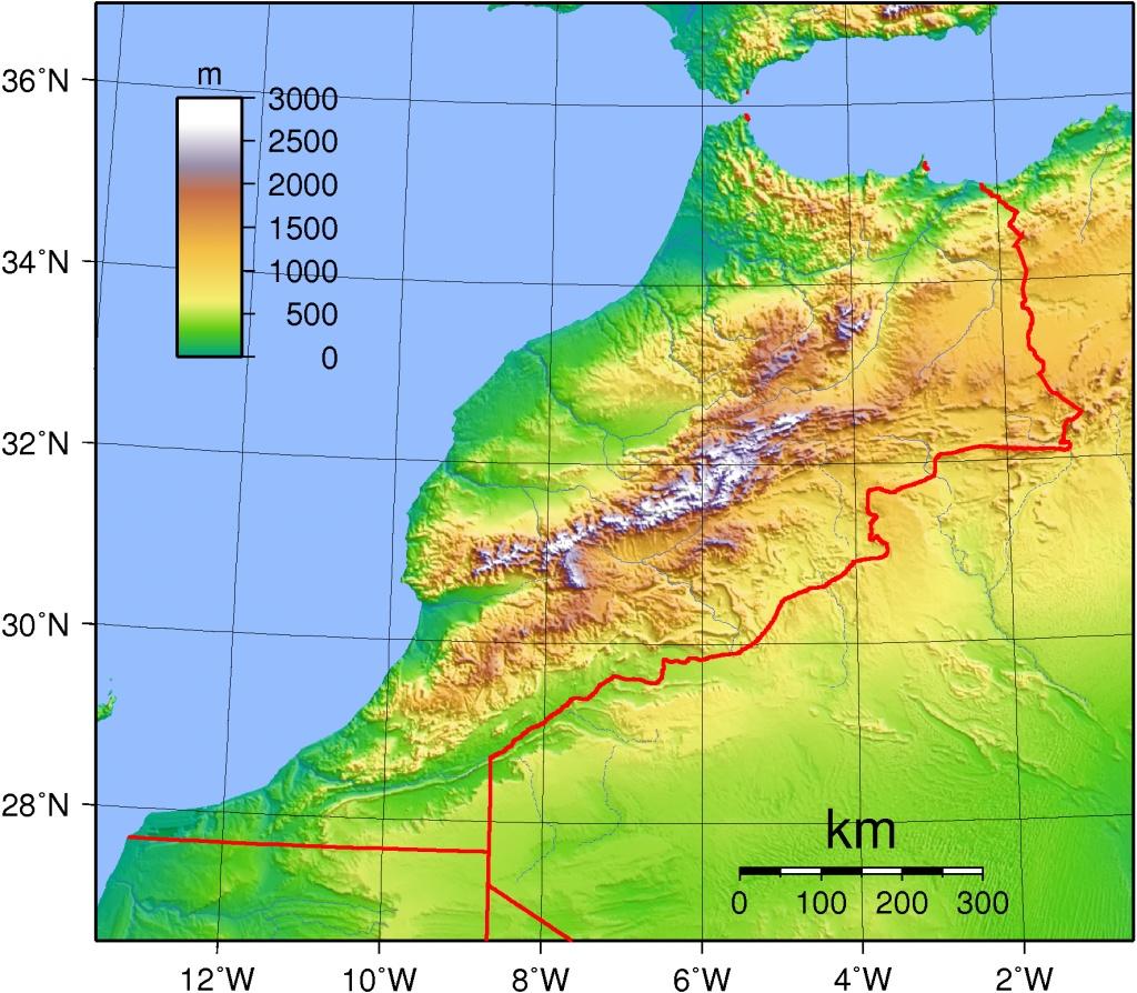 Carte Altitude Canada.Www Mappi Net Maps Of Countries Morocco