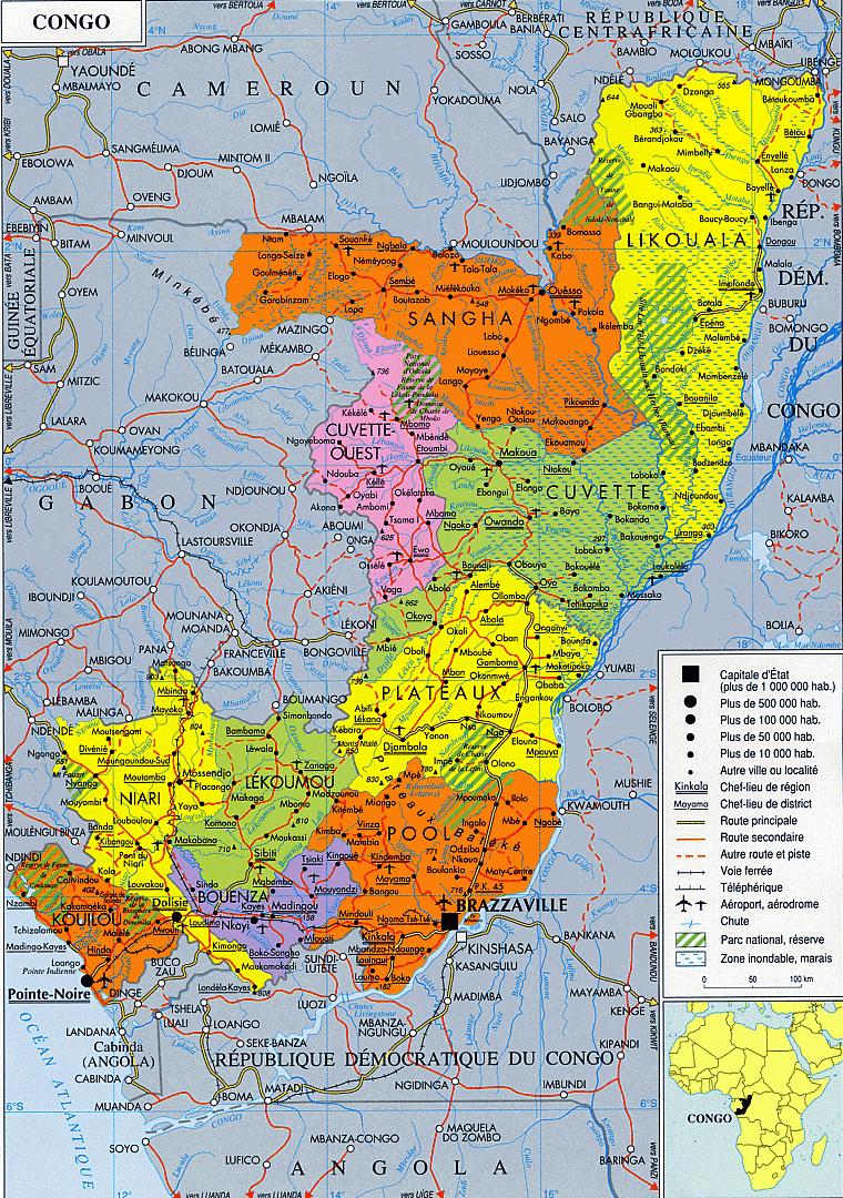 carte du congo brazzaville 100+ [ Maps Congo Brazzaville ]   Nkayael Center Carte Du Congo